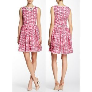Oscar De La Renta Sleeveless Trimmed Pocket Dress